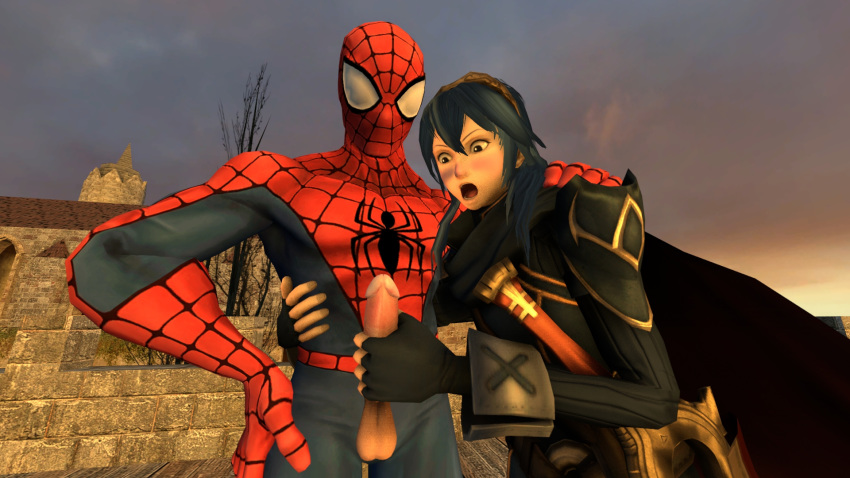 and peter spectacular spider liz man Huge breasts in tight clothing